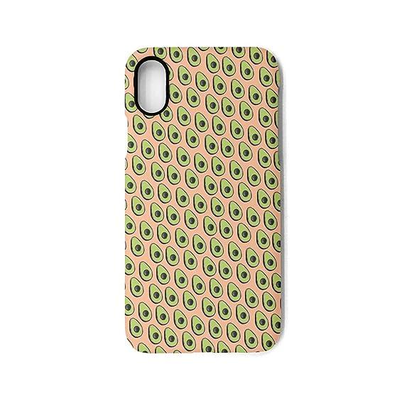 online store b62da 1e598 Amazon.com: YUEch iPhone X Case iPhone 10 Case Avocado Pink ...