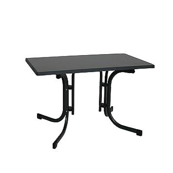 greemotion Table Pliante Gris Anthracite, Table de Jardin Terrasse ...
