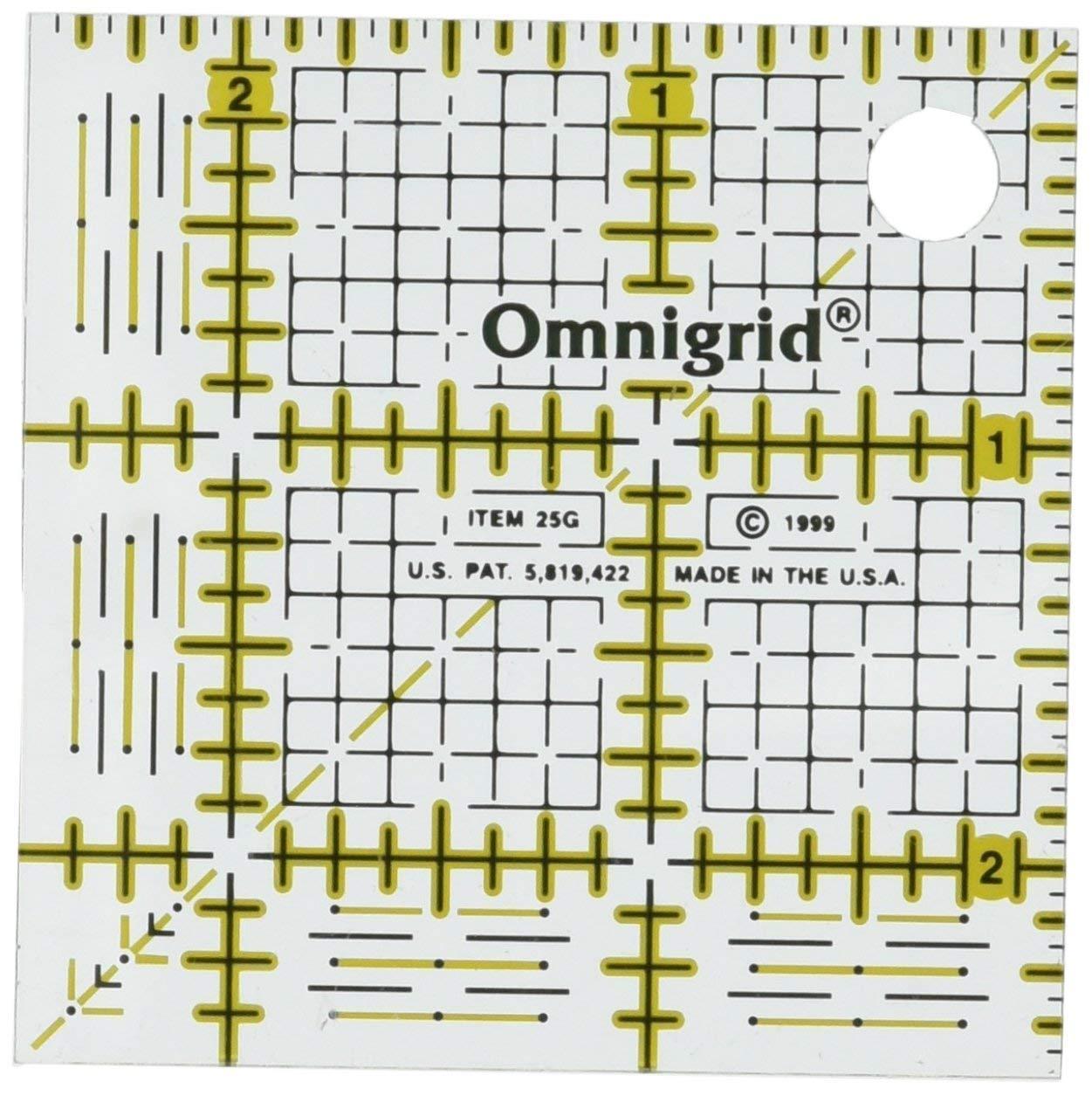 Inch Grid Ruler Omnigrid R25G 2-1//2-Inch by 2-1//2