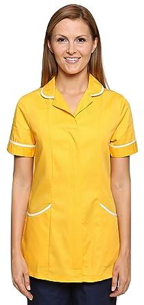 4d1ea093649 Mirabella Health and Beauty Clothing Women's Nightingale Doctors Therapist  Tunic Uniform 6 Daffodil Yellow/White