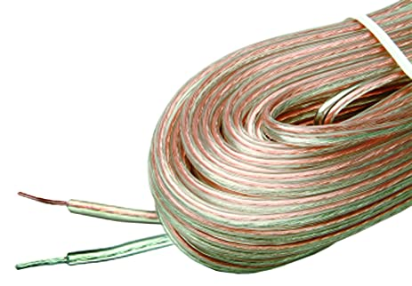 arista ga speaker wire 16 gauge 50feet clear