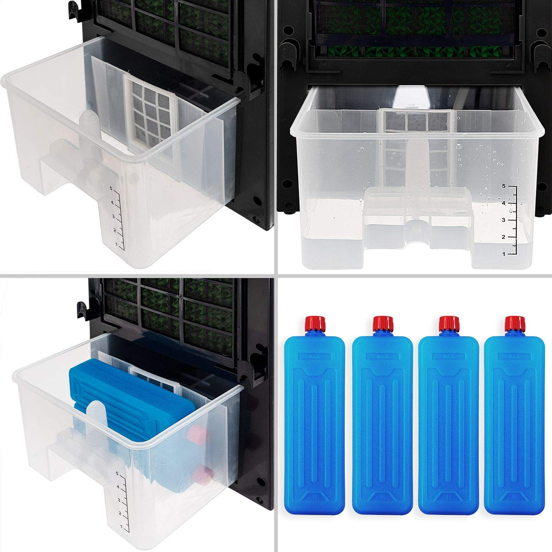 Ventilator Klimaanlage Schwarz//Wei/ß 7 L Tank Timer 3 Stufen Klimager/ät Ionisator Luftbefeuchter KESSER/® 4in1 Mobile Klimaanlage Luftk/ühler