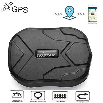 TKSTAR GPS Localizador GPS/GSM Satélite Tracker Antirrobo en Tiempo Real Portátil para Coche Moto Vehículo con 5000mAh de Ultra Batería de Gran Capacidad ...