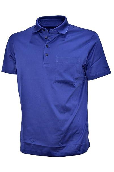 Monteclair - Polo para hombre, hilo de Escocia, con bolsillo, azul ...