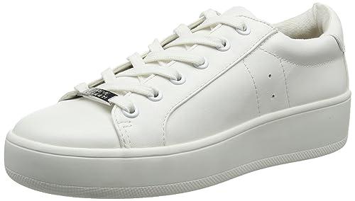 6dfc96b66d6 Steve Madden Women s Bertie Low-top Sneakers Shoes White (White) 7.5 ...