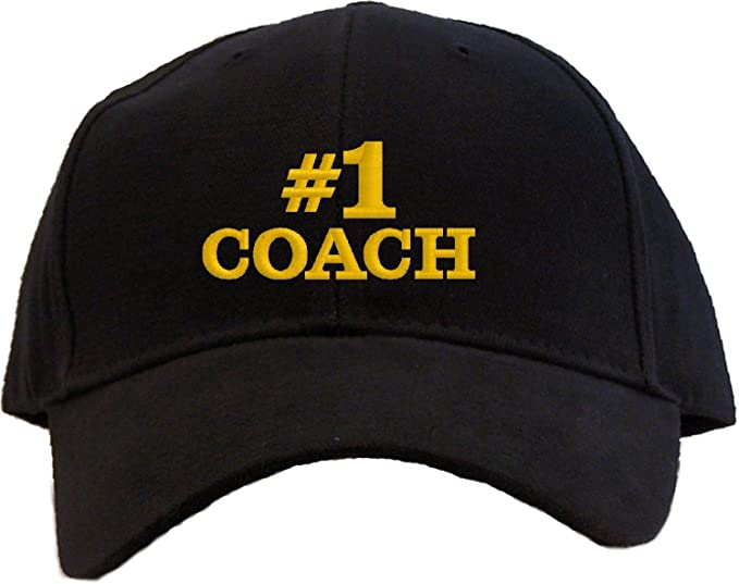 068bc1633b1 Amazon.com   1 Coach Embroidered Baseball Cap - Black  Clothing
