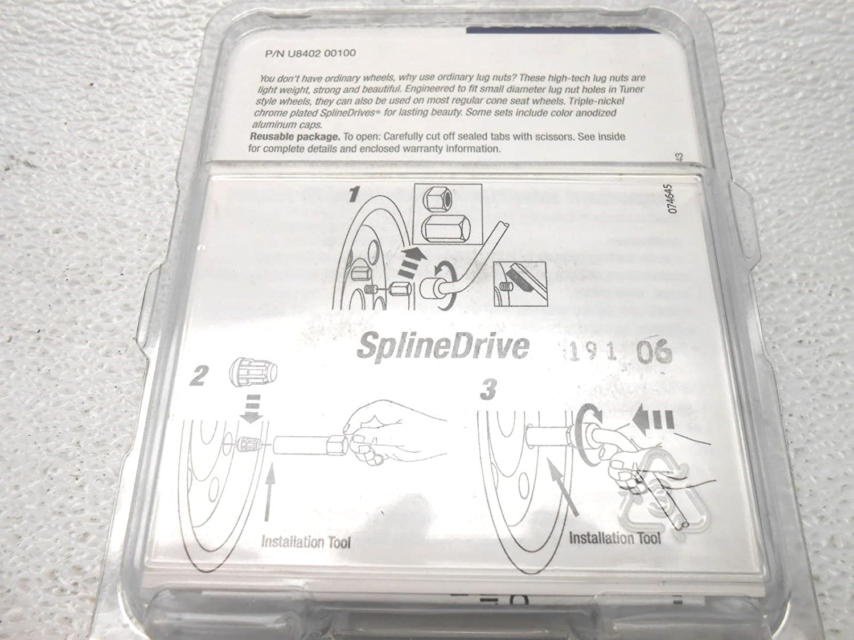Genuine Hyundai Accessories U8402-00100 Spline Drive Wheel Lug Nut Set for Hyundai Accent