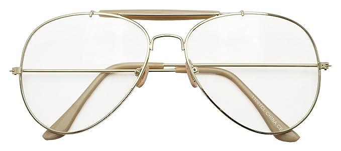 c41d7db9f1 SunglassUP Photochromic Adaptive Clear Lens Aviator Glasses Sun Senor  Transition Light Tinted Unisex Sunglassses (43230