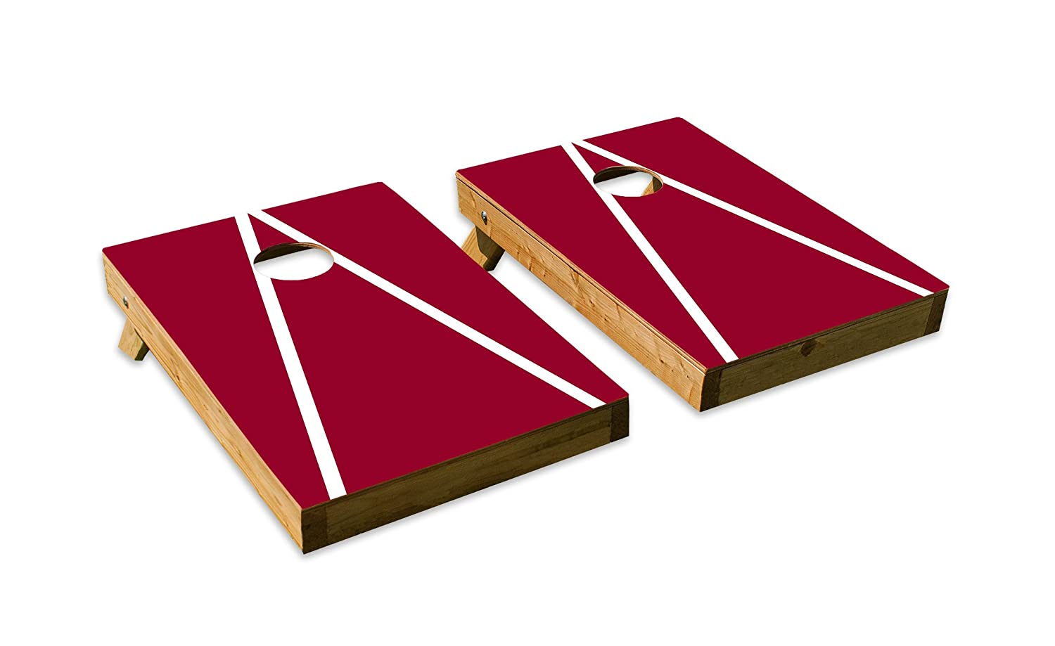 Washington State CougarsデザインCornhole/Bean Bag Tossボードセット – Made in USA木製 – 2 ' x3 'テールゲートサイズ – Includes 8 corn-filled Beanバッグ B07DZY56B6  Tailgate