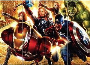 Doppelganger33 LTD Light Art Avengers Super Heroes Giant Art Print Picture Poster B1151