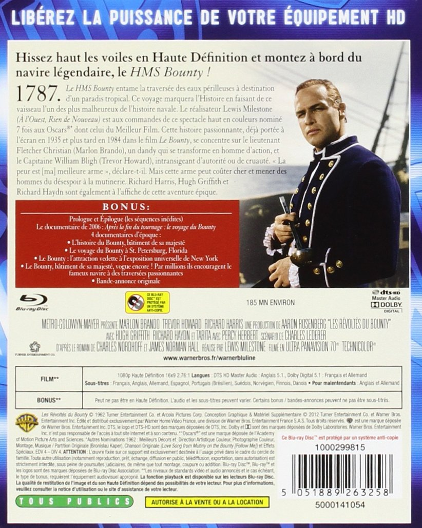 Mutiny On The Bounty Blu Ray French Import Amazon Co Uk Marlon