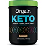 Orgain Keto Collagen Protein Powder with MCT Oil, Chocolate - Paleo Friendly, Grass Fed Hydrolyzed Collagen Peptides…