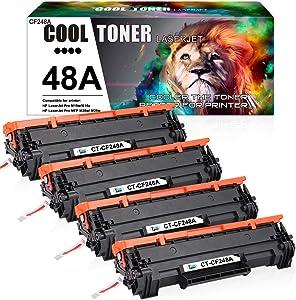 Cool Toner Compatible Toner Cartridge Replacement for HP 48A CF248A HP Laserjet Pro M15w MFP M29w M28w Laserjet Pro M15a M28a M29W M29a M16w M16a M15 M15w Toner Cartridge Printer Ink (Black, 4-Pack)