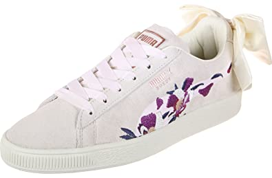 Chaussures Sacs W Bow et Flowery Suede Chaussures Puma wgSqz