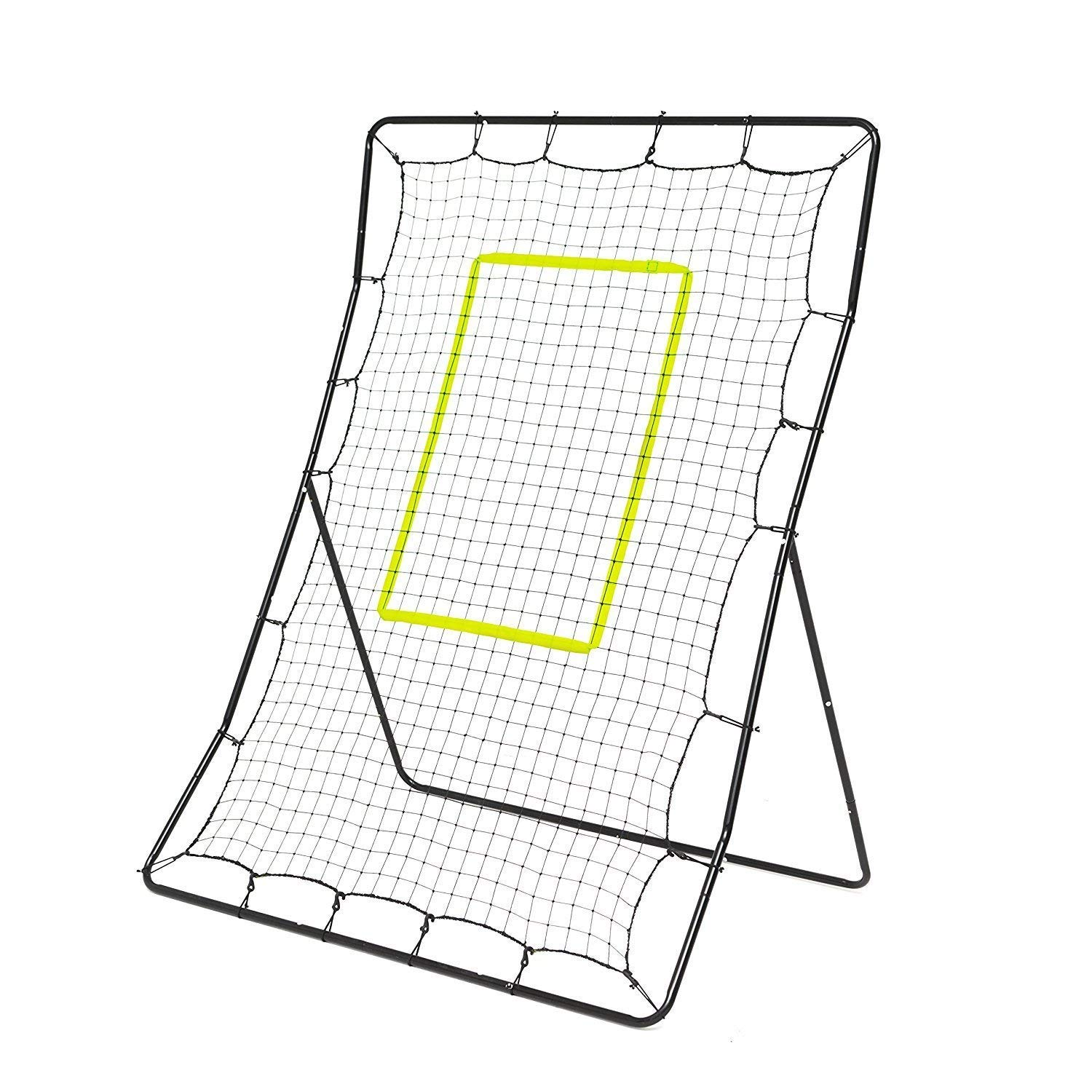 Powerfly Baseball Trainer - Practice Pitchback Net for Pitching Hitting Batting Throwing - 68x48in Youth Multi-Angle Ball Return Rebounder - Softball Pitch Back Training Equipment with Strike Zone by Powerfly