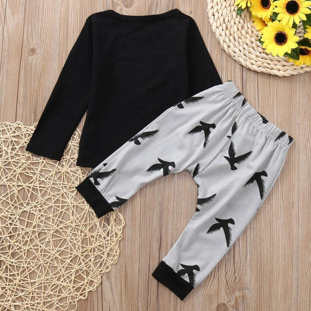 Eagle Print Pants Set Outfit Veepola 2PCS Toddler Baby Letter Print Top Blouse Clothes