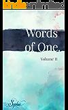 Words of One: Volume II (Words of One. Book 2)
