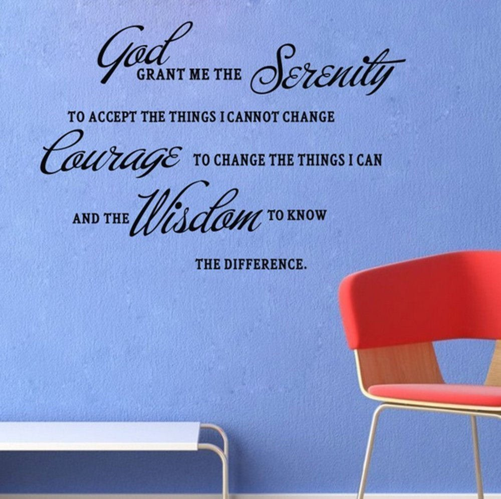 Blinggo GOD Grant ME The Serenity Prayer Bible Art Quote Vinyl Wall Stickers Decal Décor