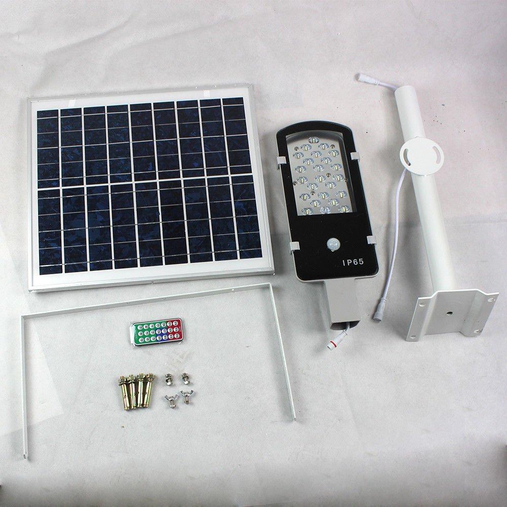 Tdogs LED Street Road Light, Waterproof Solar Power COB Sensor Outdoor Garden Light 12W 24W (24W)