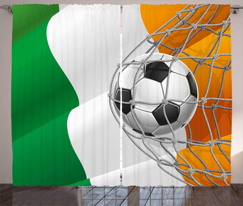 ABAKUHAUS Irlandesa Cortinas, Balón de fútbol en Red de la Meta ...
