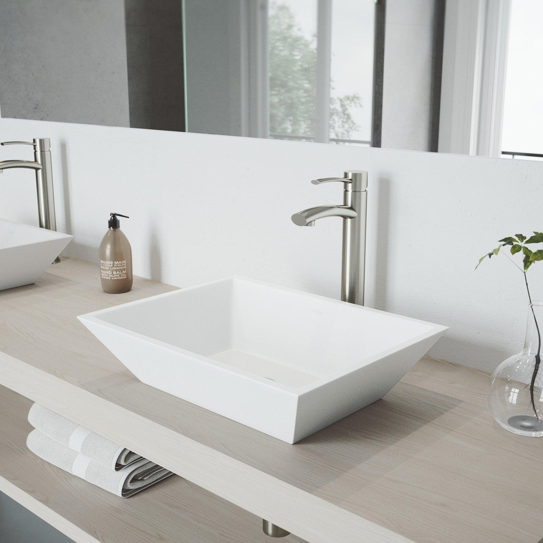 Amazon.com: Vigo Milo Única Palanca Vessel llave de baño con ...