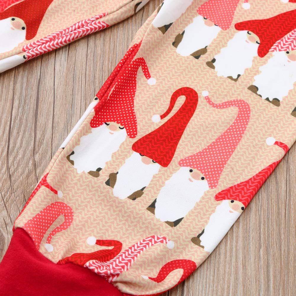Family Matching 2pcs Christmas Pajamas Sets Parent-Child T-Shirt+Long Pants Sleepwear