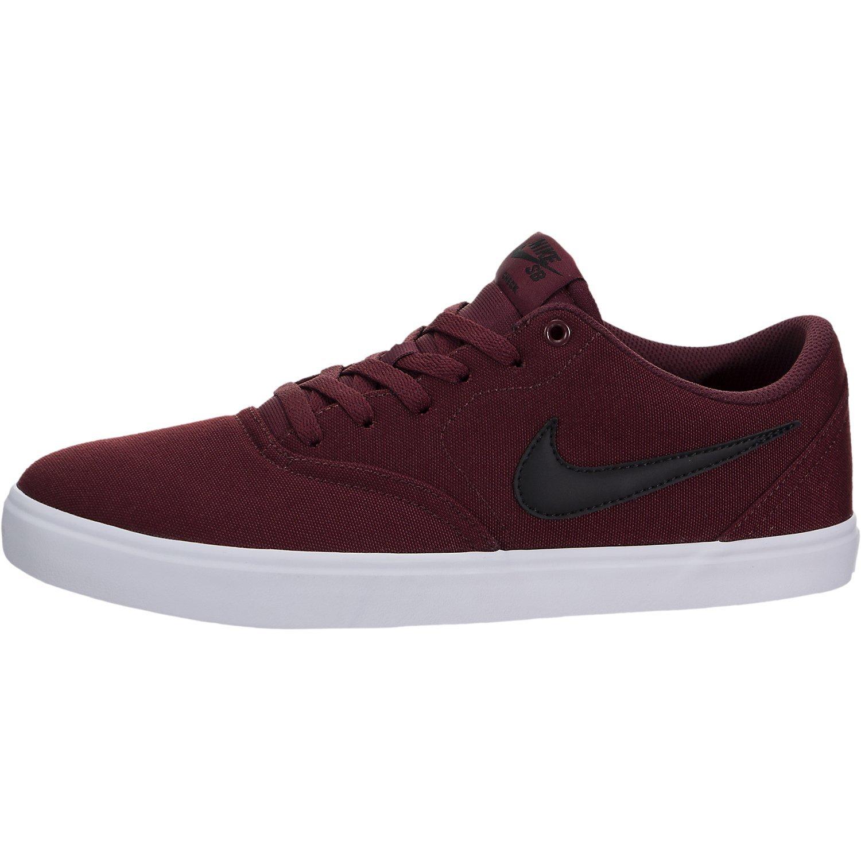Nike 843896-611: SB Check Solarsoft Men's Dark Team Red/Black White Sneaker (10 D(M) US Men)