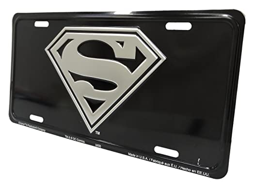 Amazon.com: Superman Metal Novelty License Plate Wall Sign Tag: Automotive