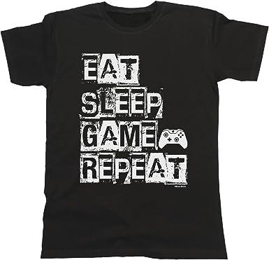 EAT SLEEP GAME KIDS CHILDRENS T SHIRT GAMER GAMING FAN BOYS GIFT