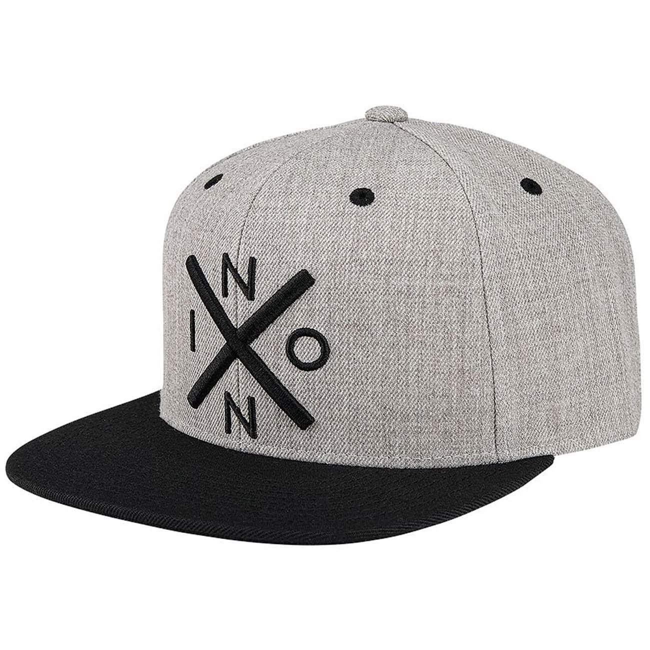 Nixon Exchange Snapback Hat Heather Gray/Black One Size: Amazon.es ...