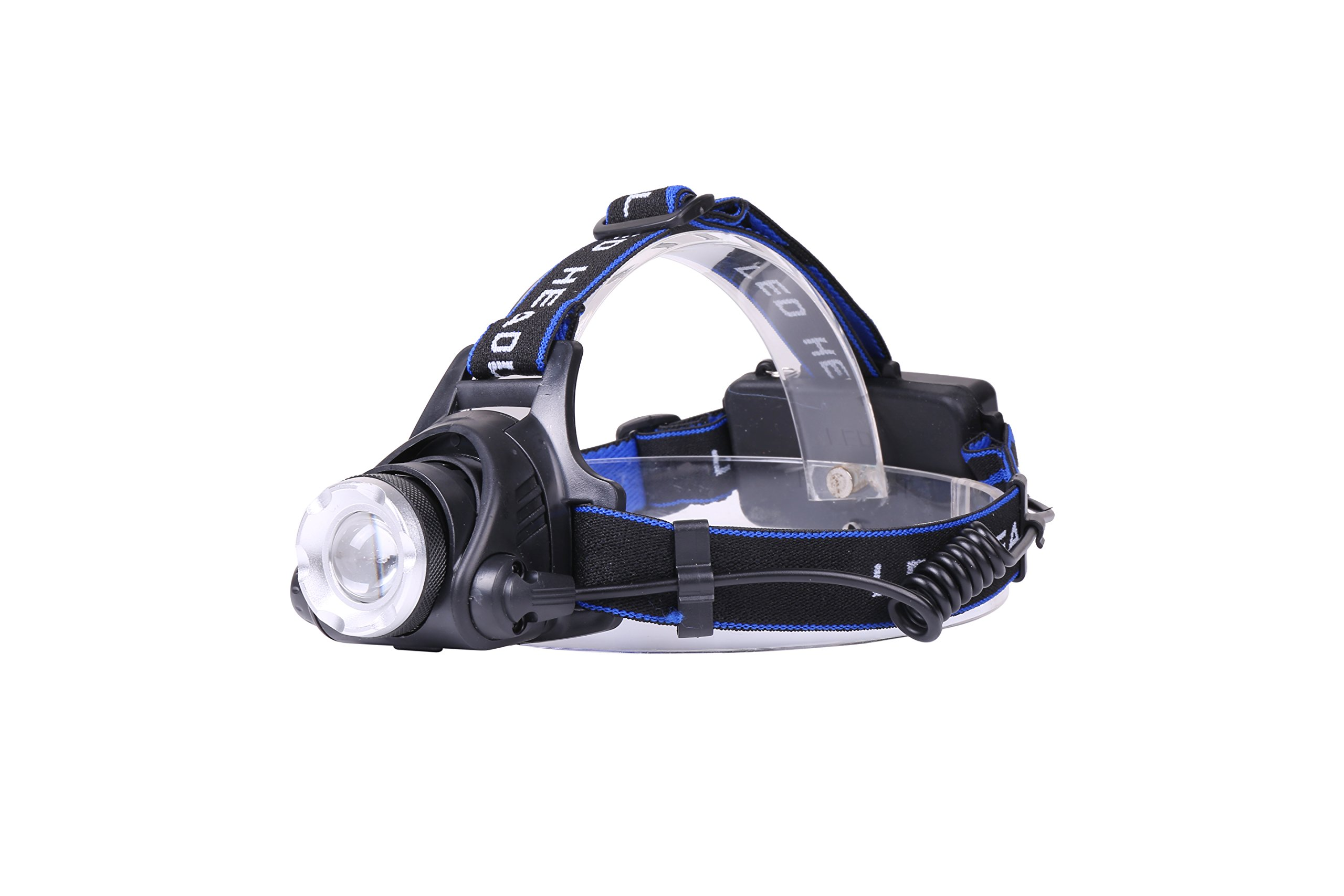 Zoomable LED Headlamp By Limitless: Rechargeable Head Lamp For Night Walks & Runs, Hiking, Camping & Hunting – Waterproof Super Bright Headlight With 3 Light Modes, Adjustable Angle & Headband