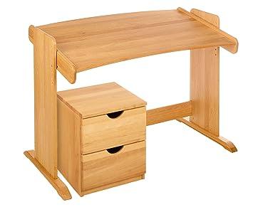 BioKinder 22811 Ahorros Set: escritorio con Julia pequeño cofre de cajones con ruedas. Alderwood Biológica: Amazon.es: Hogar