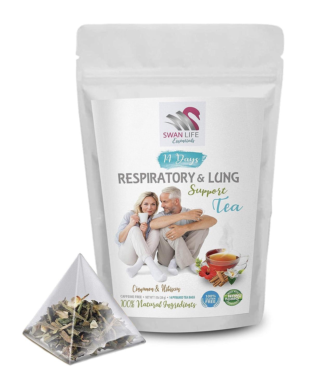 Natural Lung Health - RESPIRATORY & LUNG SUPPORT TEA 14 DAYS - respiratory tea blend