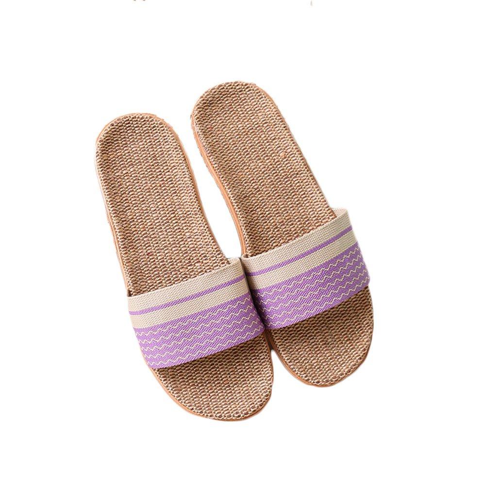ZongsenC Unisex Sandali Lino Pantofole Scarpe da Mare Beach Ciabatte Traspirante Uomo Donna Viola