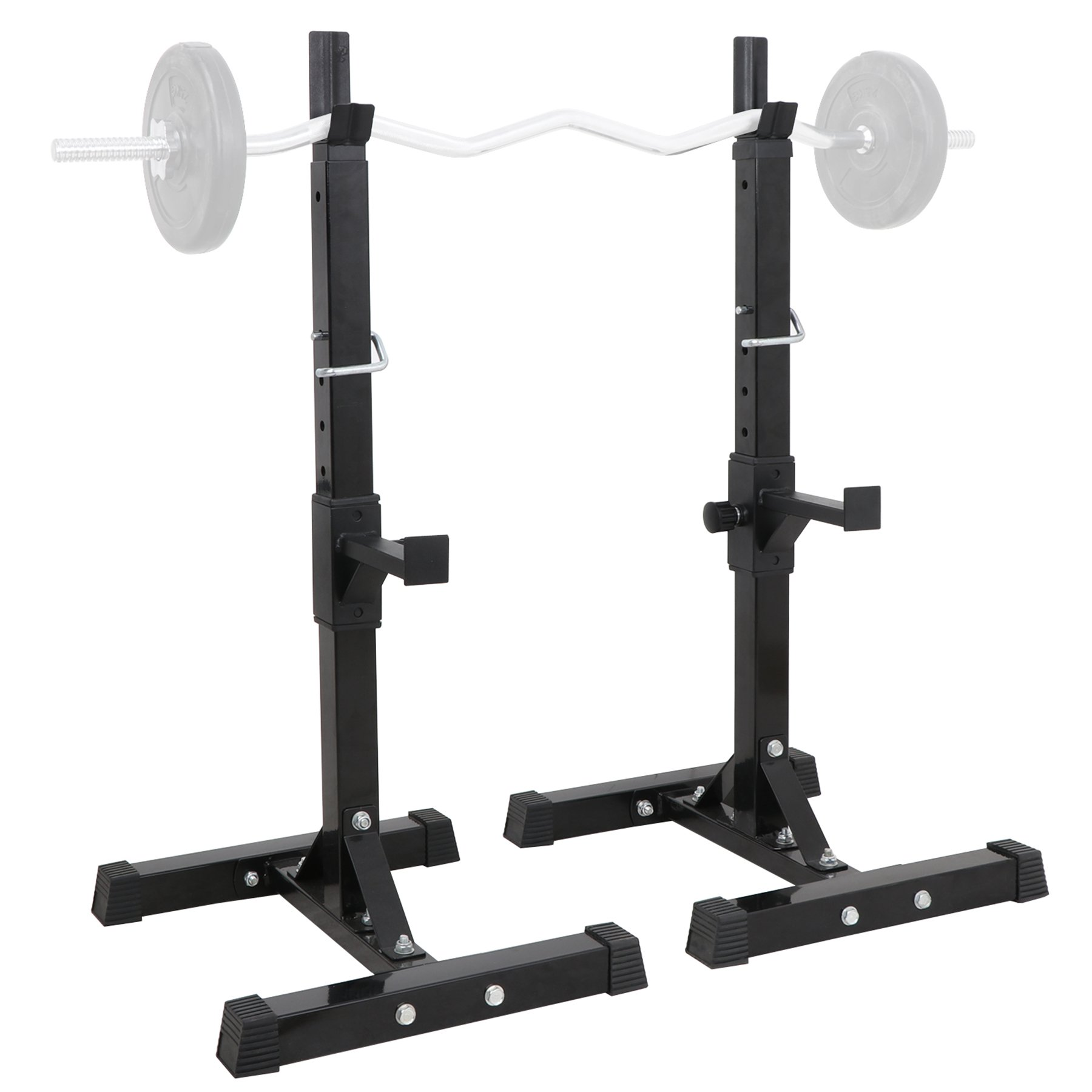 F2C Pair of Adjustable 41''-66'' Sturdy Steel Squat Rack Barbell Free Bench Press Stand Gym/Home Gym Portable Dumbbell Racks Stand Max 550lbs
