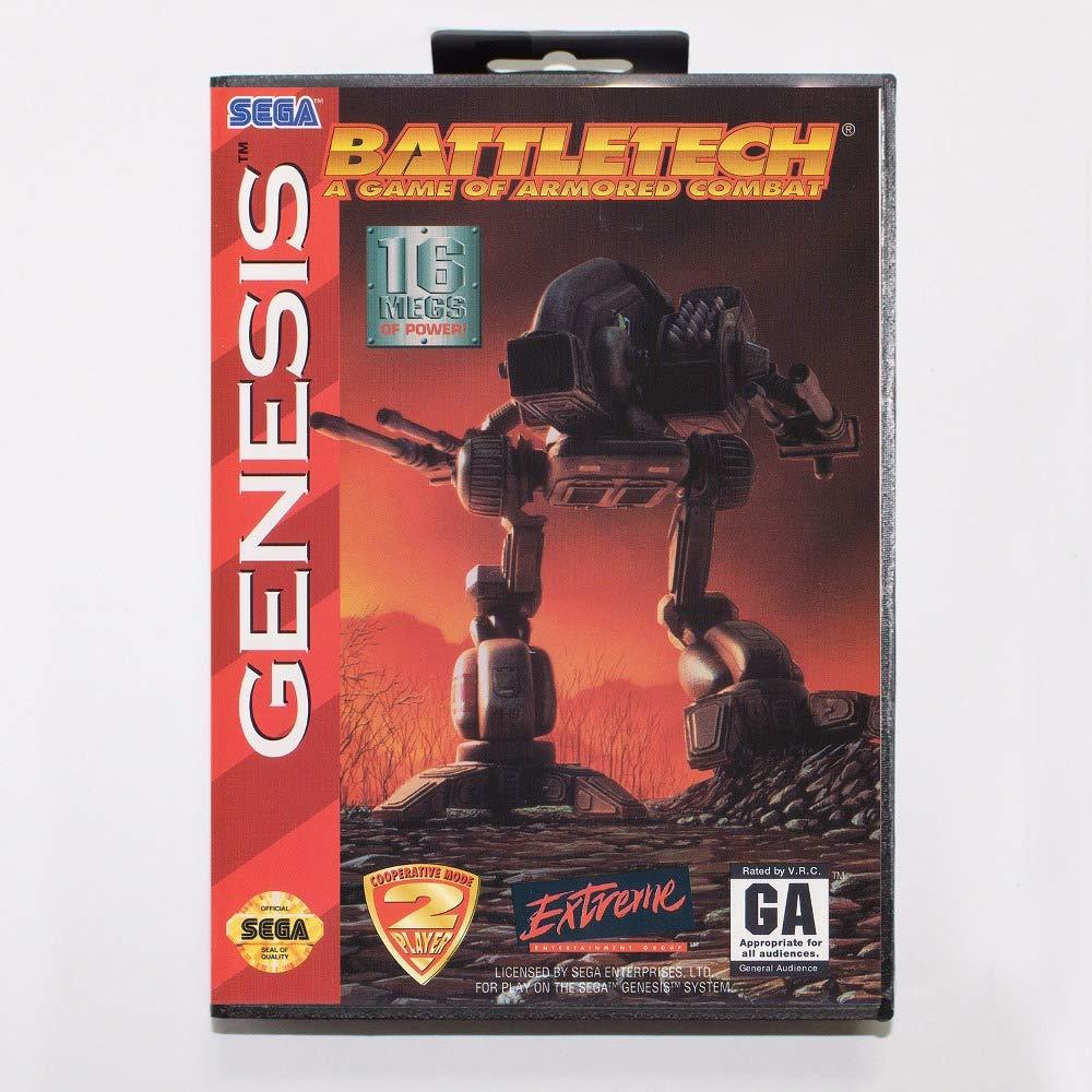 ROMGame Battletech Game Cartridge 16 Bit Md Game Card With Retail Box For Sega Mega Drive For Genesis