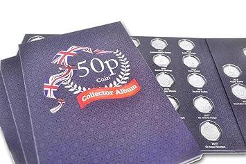 Álbum para coleccionar monedas de 50 peniques Black Album: Amazon.es: Hogar