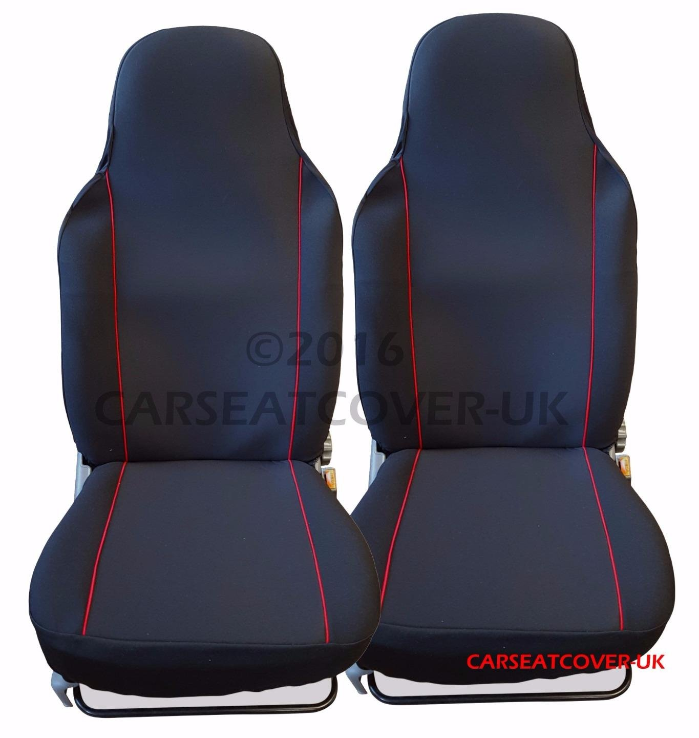 Astounding Citroen C1 Airscape Luxury Black Red Car Seat Covers 2 Theyellowbook Wood Chair Design Ideas Theyellowbookinfo