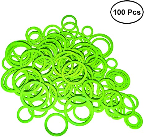 Colorful Iron O-Rings /& Stitch Ring Markers for Knitting//Crochet//etc, , 100pcs Includes 10 Colors, for Knitting//Crochet//etc Internal Diameter 6mm Small
