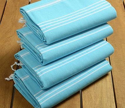 Sale% 50 Set de 4 toallas de turco de alta calidad algodón turco toalla de