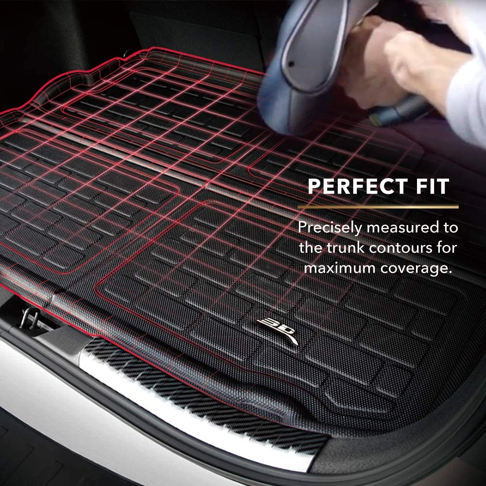 3D MAXpider M1CD0201309 All-Weather Protection Cargo Liner for Cadillac XT4 2019-2020 Cross FOLD Cargo Liner Kagu Black