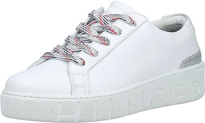 Tommy Hilfiger Platform Zapatillas Para Mujer Color Blanco Deportivas 9 Clothing