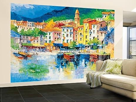Amazoncom 100x144 Antonio di Viccaro Riviera Ligure Huge Wall