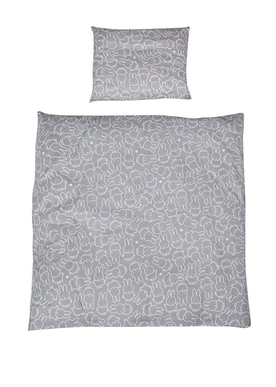 """Bettbezug: 80x80 /& Kissenbezug 40x35 cm Kollektion /""""miffy/"""" Wendebettw/äsche Wiegenbettw/äsche 80x80 cm roba Wiegenset 2-tlg 100/% Baumwolle"""