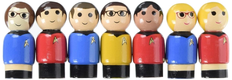 BIF BANG POW 17852 Excl Con The Big Bang Theory//TOS Pin Mate Set of 7
