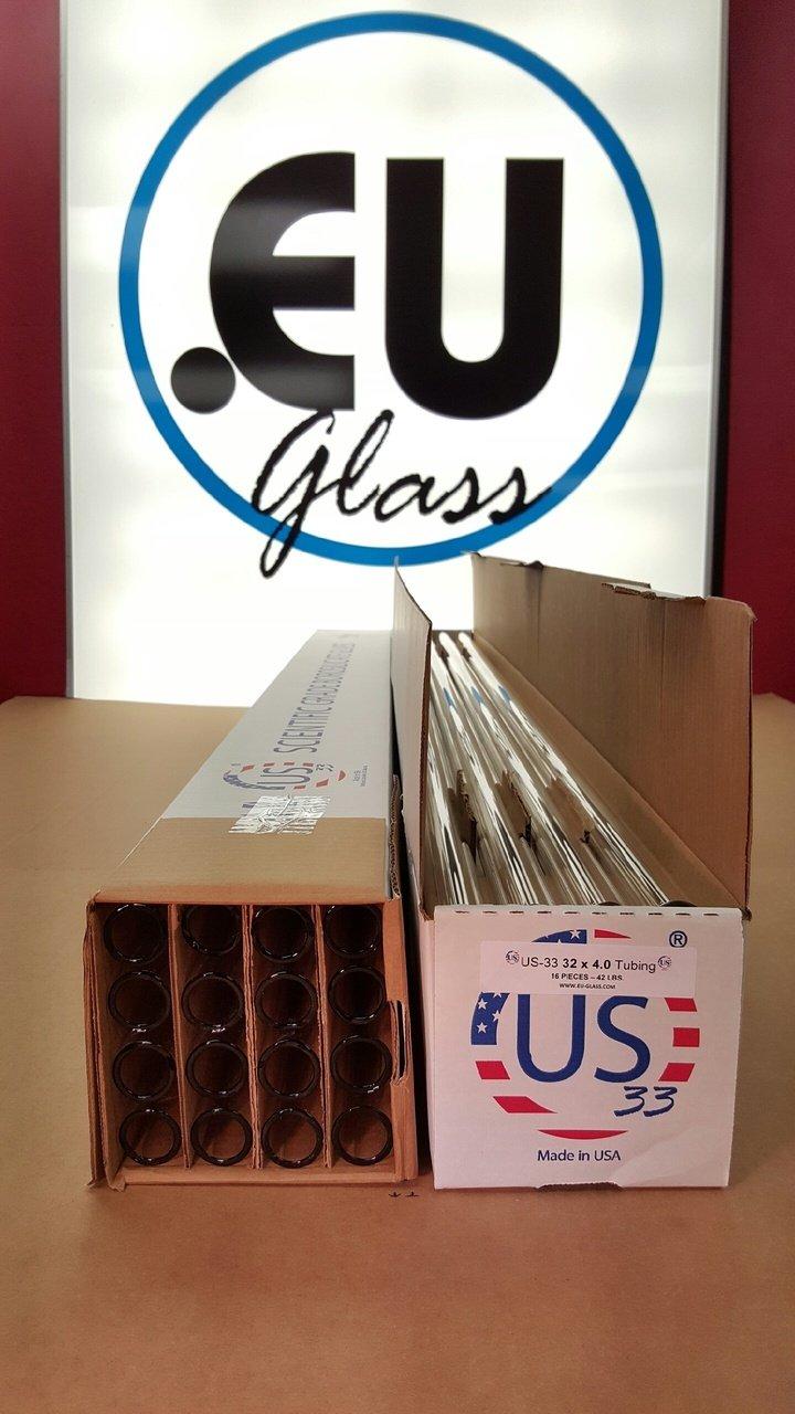 US-33: 32 X 4.0 Borosilicate Tubing (CASE) (16, 32 X 4.0)