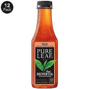 Pure Leaf Iced Tea, Peach, Sweetened, Real Brewed Black Black Tea, 18.5Fl. Oz Bottles (Pack of 12)