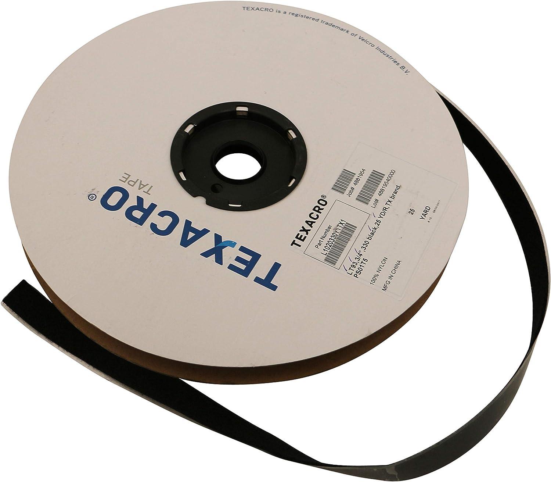 "1"" Velcroe Black Sensetive Presure Adhesive Backing 1 Roll 25 Yards High Quality"