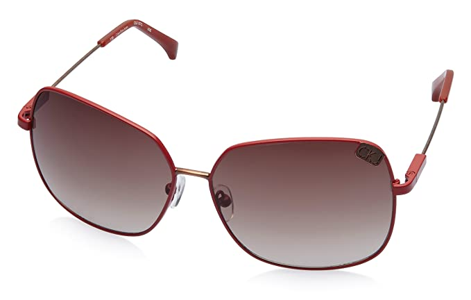 fbd3a7016d2 Image Unavailable. Image not available for. Colour  Calvin Klein Jeans Oval  Sunglasses (Red) ...