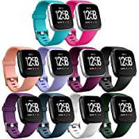 HUMENN For Fitbit Versa Strap,Classic Adjustable Replacement Sport Wristband for Fitbit Versa Smartwatch Large Small, 12 Colours